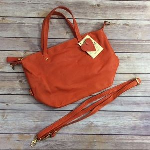Handbags - Borse Pelle Made in Italy Tangerine Handbag NWT